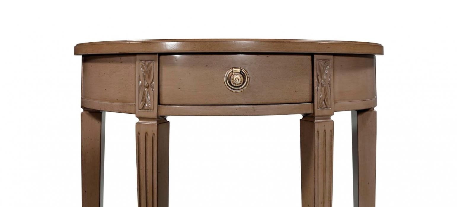 Demi lune console tables console tables - Console depliable en table ...