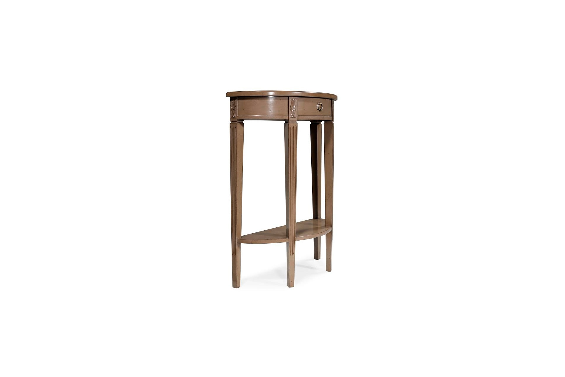 Demi lune console tables console tables for Chaise demi lune