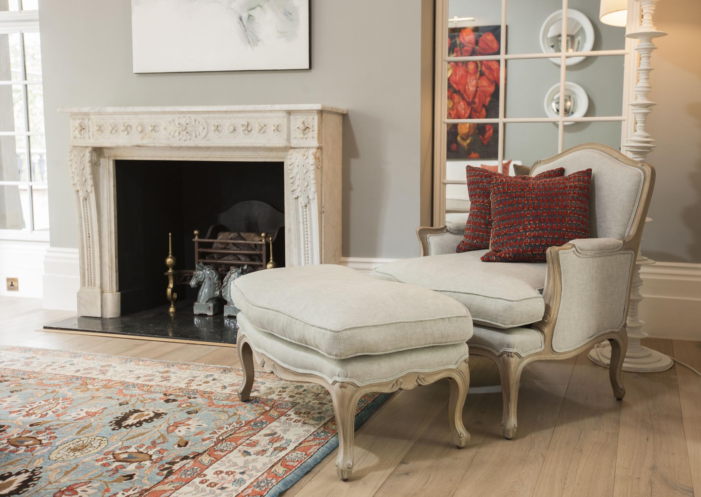 Grey Armchairs Louis Xv Coco Berg 232 Re Armchairs